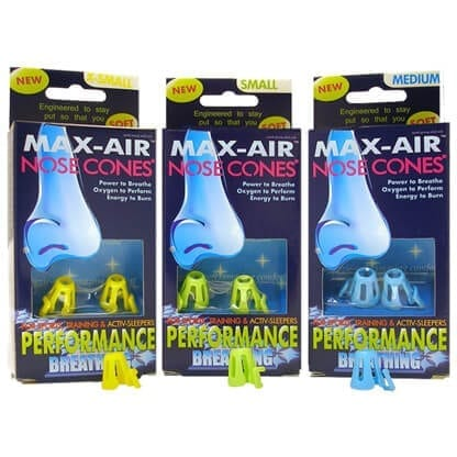 Max-Air Nose Cones Sports Performance Breathing Packaged product